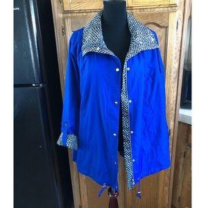 JM Collection Blue Lightweight Jacket Size 2X